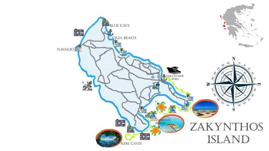 Cruise-Southside-Zakynthos-Marine-park-Marathonisi-Keri-Caves